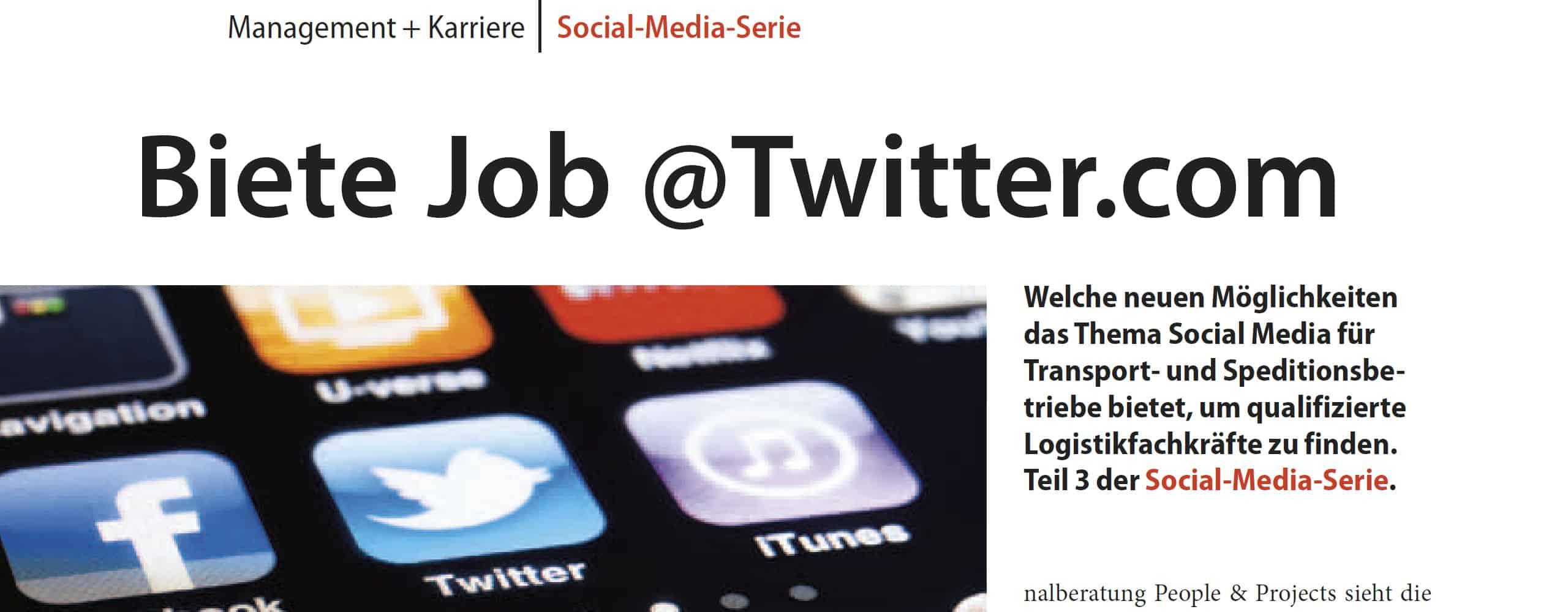 Biete Job at Twitter